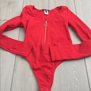 Red bodysuit worn once